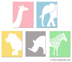 Jungle Nursery Art  Animals