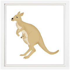Kangaroo Nursery Art
