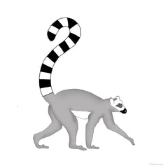 Lemur Print for Nursery