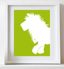 Lion Nursery Art, jungle animal
