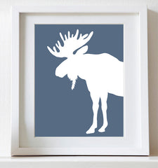 Moose nursery art print