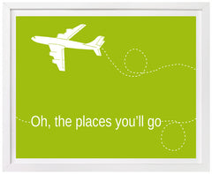 Oh the Places You'll Go, Airplane, Nursery Art