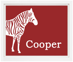 Printable Personalized Zebra Print