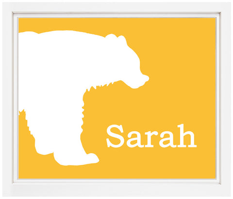 Printable Personalized Bear Print