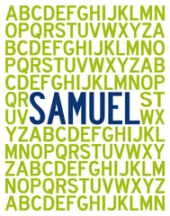 Printable Personalized Alphabet Poster