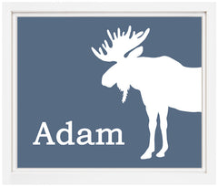 Printable Personalized Moose Print