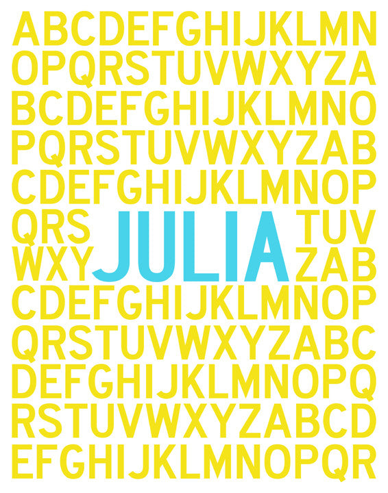 Printable Personalized Alphabet Poster | Alley Kids : Children\'s ...