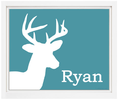 Printable Personalized Deer Print