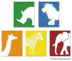 Safari Nursery Art Jungle Animals
