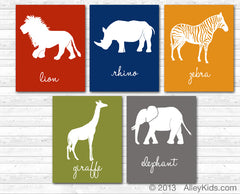 Safari Nursery Art