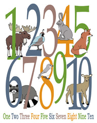 Woodland Number Poster, Animal Alphabet