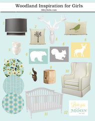 Woodland Inspiration Board, Nursery Design Board