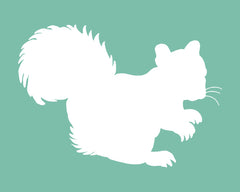 Woodland Nursery Art Squirrel
