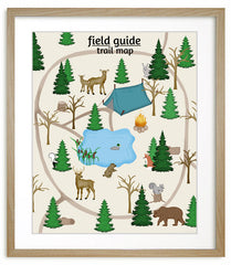 Woodland nursery art, Trail map