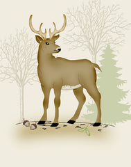 woodland nursery deer art