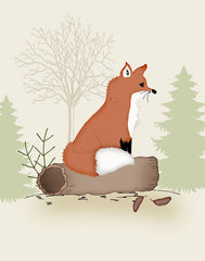 woodland fox nursery art