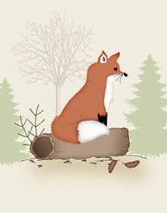 woodland nursery fox art