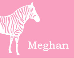 Zebra Nursery Art, Personalized Print