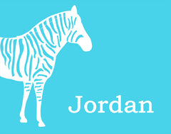 Personalized Zebra Art, Nursery Art