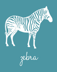 Zebra Nursery Art, Animal Art