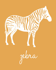 Zebra Nursery Art, Jungle Nursery