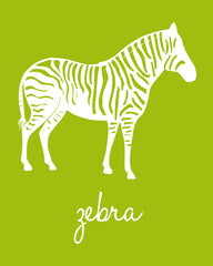 Zebra Nursery Art, Animal Nursery Art