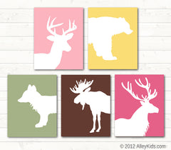 Nursery art, Woodland animals