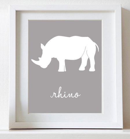 Rhino, Art for Nursery
