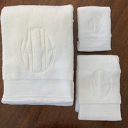 Monogrammed Three Piece Towel Set