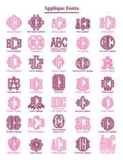 Applique Monogrammed Cotton Towel