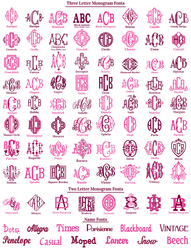 Monogrammed Finger Tip Towels - Set of Two