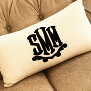 Applique Monogrammed Lumbar Pillow
