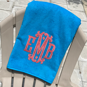 Monogrammed Applique Beach Towel