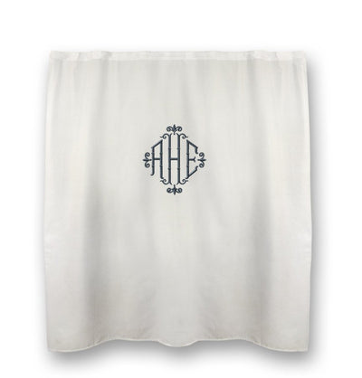 Monogrammed Shower Curtain - Twill
