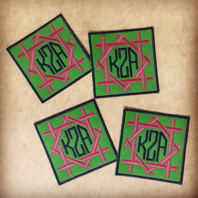 Monogrammed Canvas Bamboo Coasters (set of four)