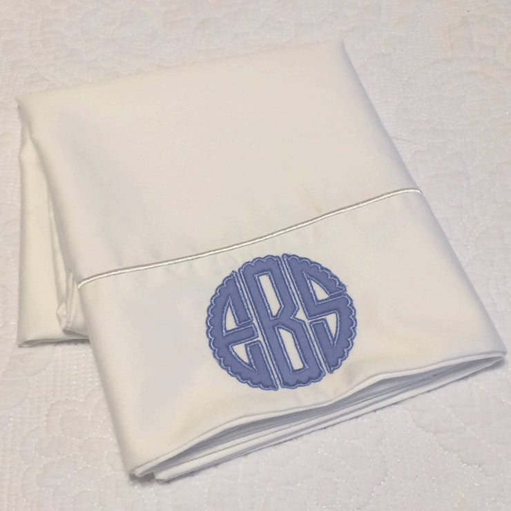 Monogrammed Applique Pillowcase