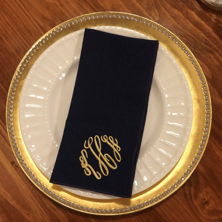 Monogrammed Wrinkle Free Napkin - Set of Four