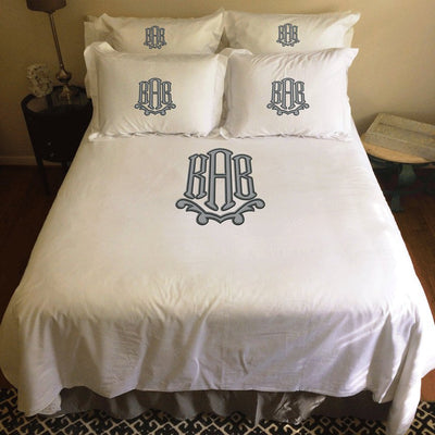 Applique Monogrammed Duvet Set
