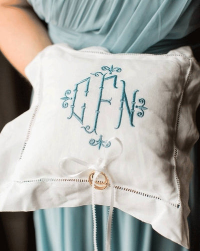 Monogrammed Ring Bearer Pillow