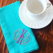 Monogrammed Cotton Color Napkin - Set of Four