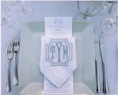 Monogrammed Linen Napkin - Set of Four