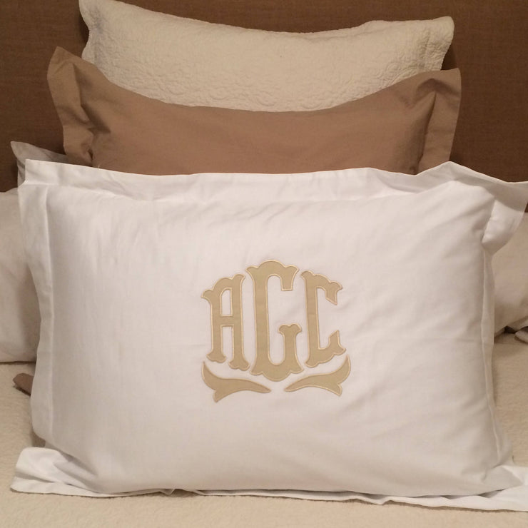 Monogrammed Applique Pillow Sham