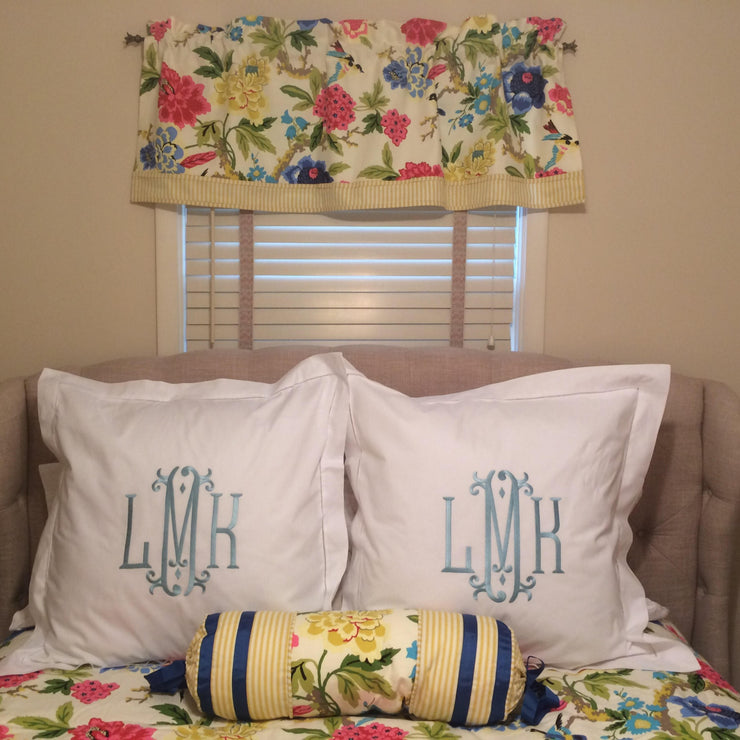 Monogrammed Hemstitch Pillow Sham