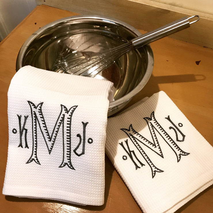 Monogrammed Kitchen Towel - Set of Two