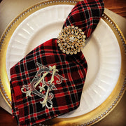 Monogrammed Plaid Holiday Napkin - Set of Four