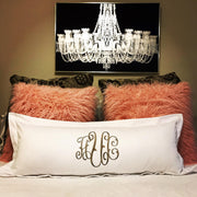 "Monogrammed 36"" Lumbar Pillow"
