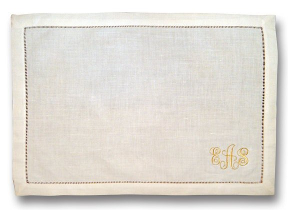 Monogrammed Hemstitch Placemat - Set of Four