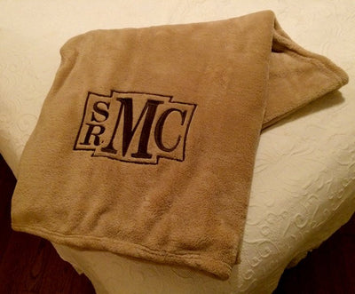 Monogrammed Fleece Blanket