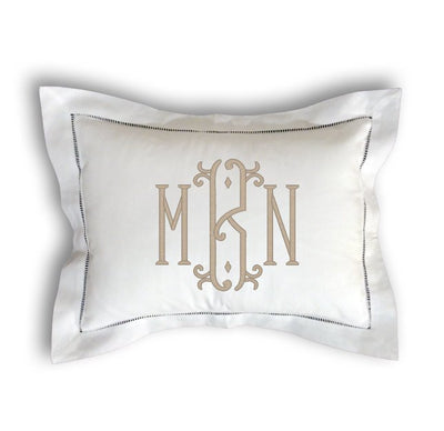 Monogrammed Hemstitch Pillow