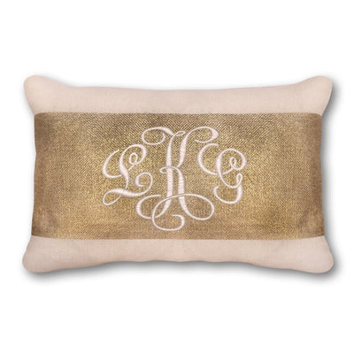 Monogrammed Gold Foil Pillow